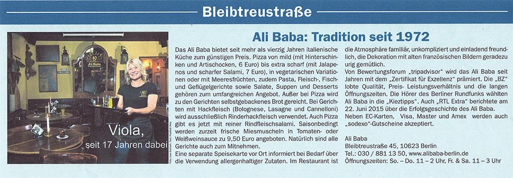 Ali Baba: Tradition seit 1972