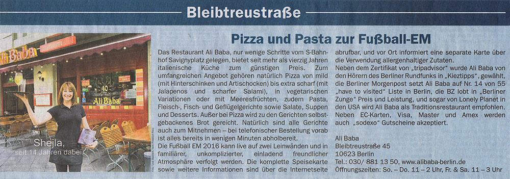 Pizza und Pasta zur Fußball EM